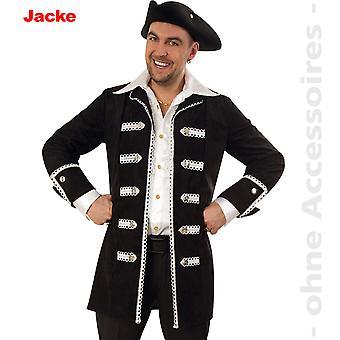 Piratenjacke Kostüm Pirat Herren Uniform Admiral Herrenkostüm