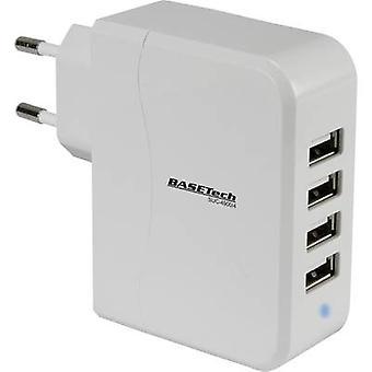 Basetech SUC-4900/4 SUC-4900/4 USB lader strømnettet socket Max. utgang gjeldende 4900 mA 4 x USB