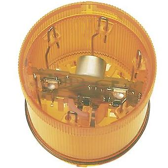 Signal tower component LED Werma Signaltechnik KombiSIGN 71 Yellow Non-stop light signal 24 V DC