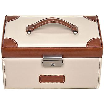 Sacher jewellery box cream Brown Castle mirror jewelry box TRAVEL