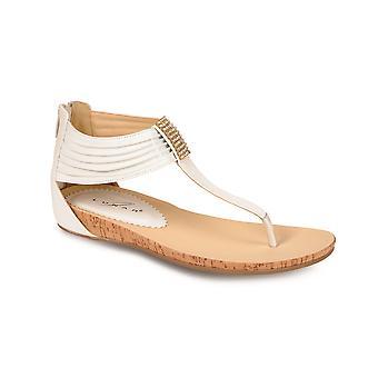 Las señoras Diamante textura cuña pequeña tanga moda sandalias zapatos mujer