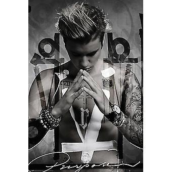 Scopo di poster di Justin Bieber (spavalderia)