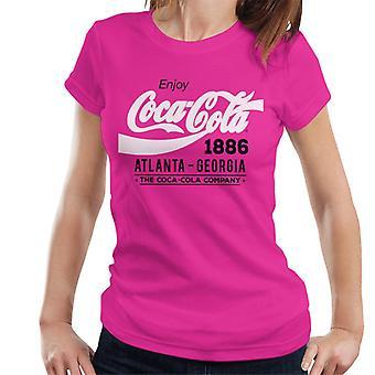 Coca Cola Black And White Classic Logo Women's T-Shirt