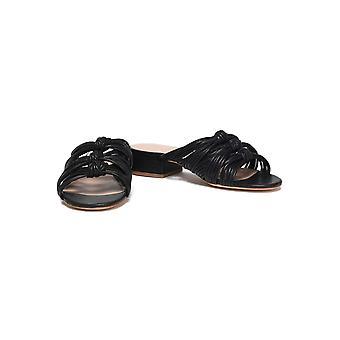 Rachel Zoe Womens Wren en cuir Open Toe occasionnels Slide Sandals