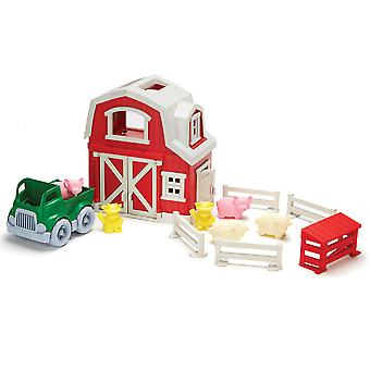 Green Toys Farm Yard Animal Play Set 100% Recycled BPA Free