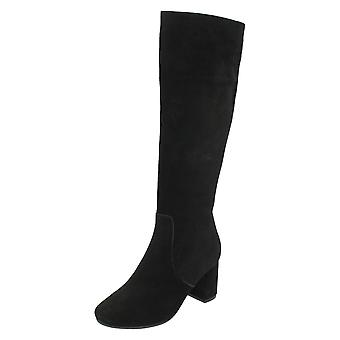 Dames en cuir Collection daim bottes Knee High F50536