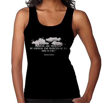Dystopian Moments Of Sadness and Joy Quote Women's Vest