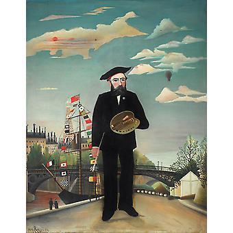 Selvportræt, Henri Rousseau, 50x40cm