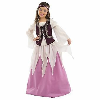 Middeleeuwse Julia Child kostuum meisje beroemde meisjeskleding