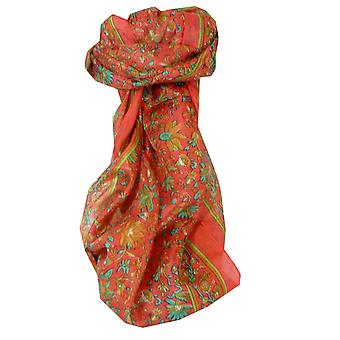 Mulberry Silk Traditional Long Scarf Wagh Blush by Pashmina & Silk