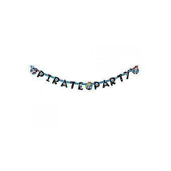 Parteibevorzugungen Pirate Party Deko Girlande 144x11cm