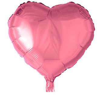 """Hjärtformad Folieballong Rosa - 46 cm (18"""")"""