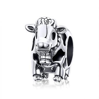 Sterling Silber Charm Kuh