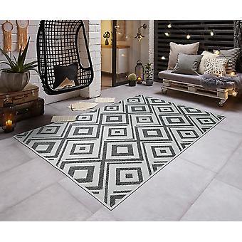 Modern in - & Outdoorteppich flat fabric turn carpet diamond