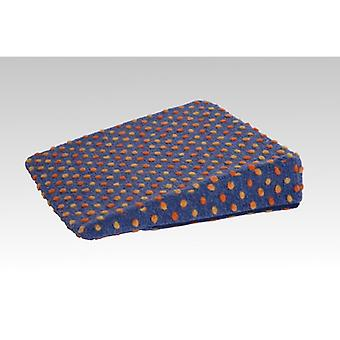 Therapy wedge wedge pillow cushion blue-coloured of 40 x 40 x 8/1 cm