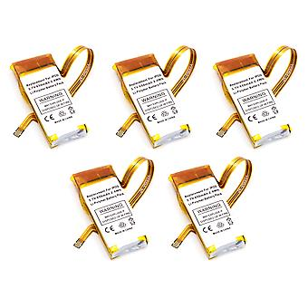 5 pack di batterie di ricambio per Apple iPod 5th Gen Video 30g 616-0230 616-0227 616-0229