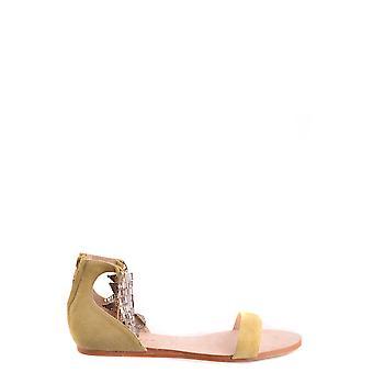 Sandálias de camurça amarela ezbc060070 Women's