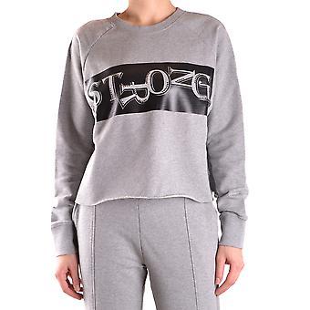 Pinko Ezbc056093 Women's Grey Cotton Sweatshirt