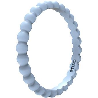 Enso Rings Beaded Stackables Series Silicone Ring - Glacier
