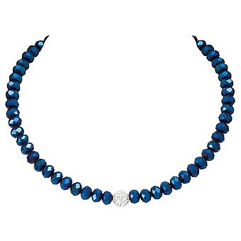 Eternal Collection Majestic Electric Blue Crystal Statement Beaded Necklace