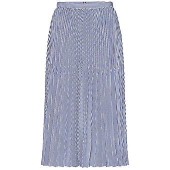 Tommy Hilfiger Daisy Stripe Pleated Midi Skirt