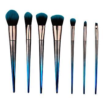 Sminkborstset 7 deler-blå Ombre