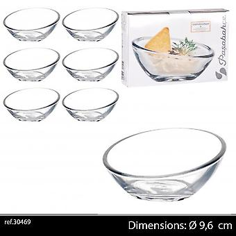 Passabache 6Pc Tapas Gastro Ravier Glass Dishes
