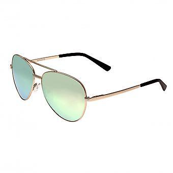 Bertha Bianca Polarized Sunglasses - Gold/Celeste-Gold