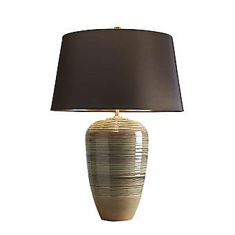 Elstead-1 lys bordlampe-grønn, brun glasur finish-DEMETER/TL