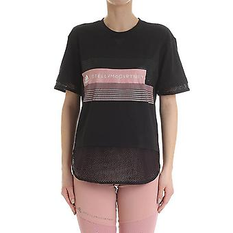 Adidas by Stella Mccartney Dt9226 Damen's schwarzes Nylon T-shirt