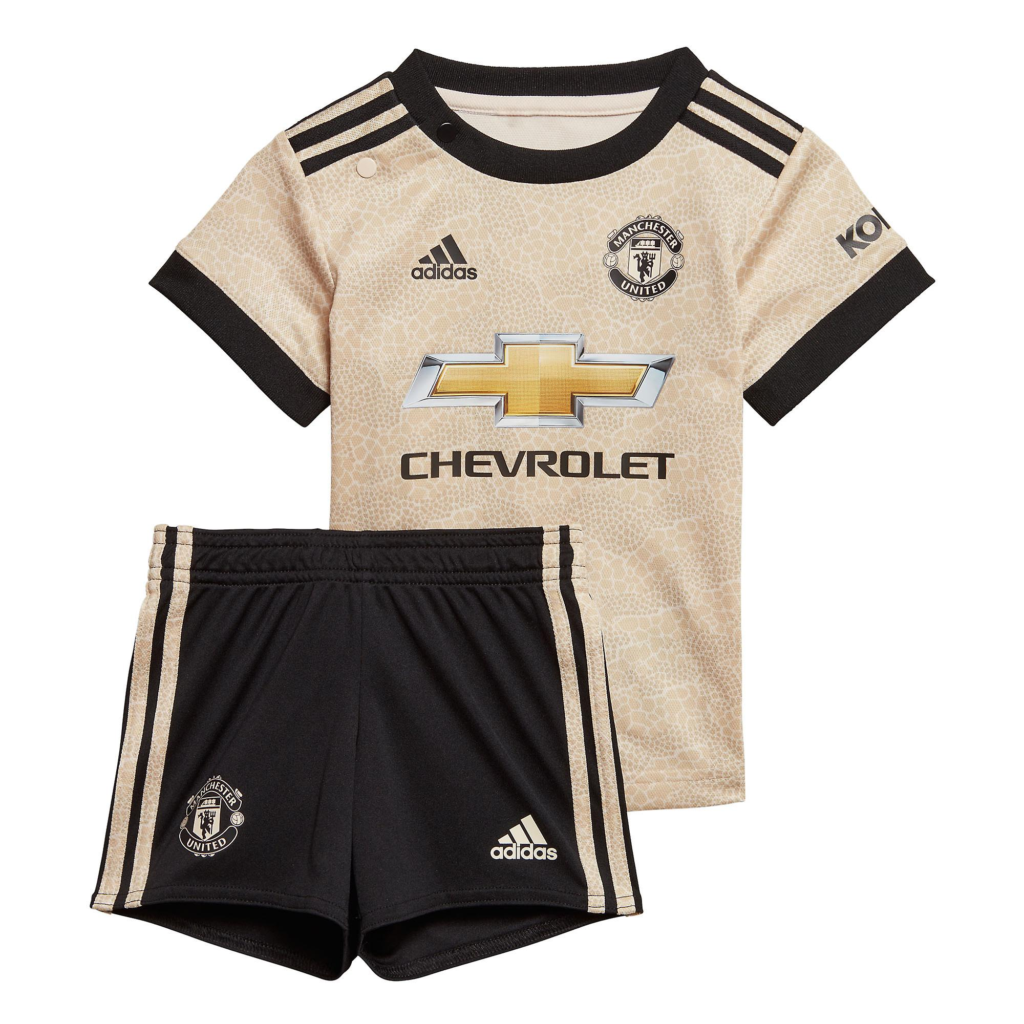 adidas Manchester United 2019/20 Kids Infant Baby Away Football Kit Linen