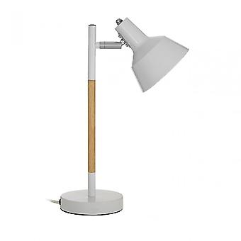 Premier Home Bryson wit hout/metaal tafel lamp, hout, wit