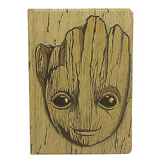 Guardianes del Galaxy Notebook Groot Brown/Green, A5 Hardcover, Bound, 240 Pages Lined.