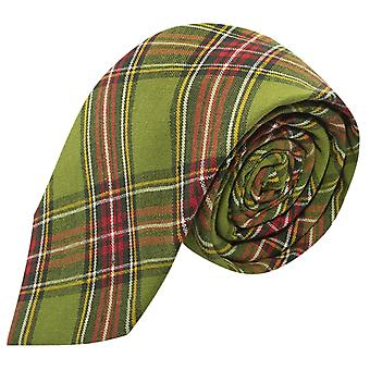 Traditionele groene Tartan Tie, Check, Plaid