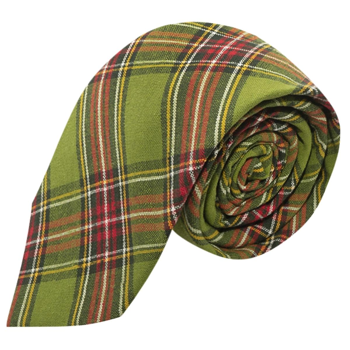 Traditional Green Tartan Tie, Check, Plaid