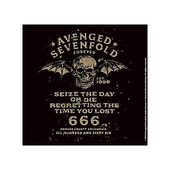 Avenged Sevenfold Coaster Seize The Day new Official 9.5cm x 9.5cm single cork