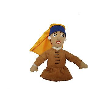 Finger Puppet - UPG - Girl with Pearl Earring Soft Doll Toys Gifts New 2235
