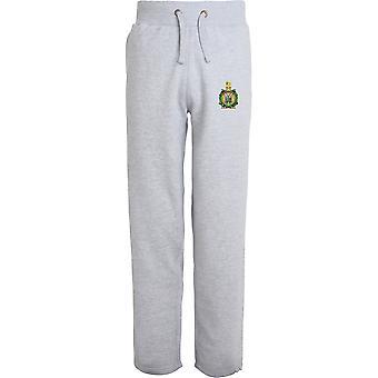 Kings Own Scottish Borderers - lizenzierte britische Armee bestickt offenen Saum Sweatpants / Jogging Bottoms