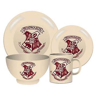 Harry Potter Hogwarts Crest 4 bucata ceramica cina set
