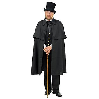 Sherlock Homles Dickens Victorian Civil Wars Steampunk Mens Costume Cape Cloak