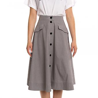 Calvin Klein Calvin Klein Mini Gingham Button Womens Skirt