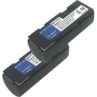 2 x Dot.Foto Toshiba PDR-BT1, PDR-BT2 erstatningsbatteriet - 3,7 v / 1500mAh