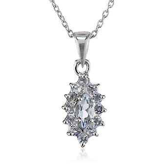 SchmuckMart - Chain with women's pendant with topaz (0 -78 ct) - silver sterling 925 - pd. P137BT