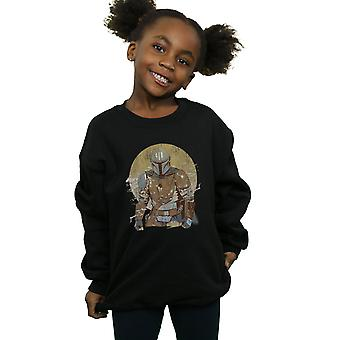 Star Wars Girls The Mandalorian Distressed Warrior Sweatshirt