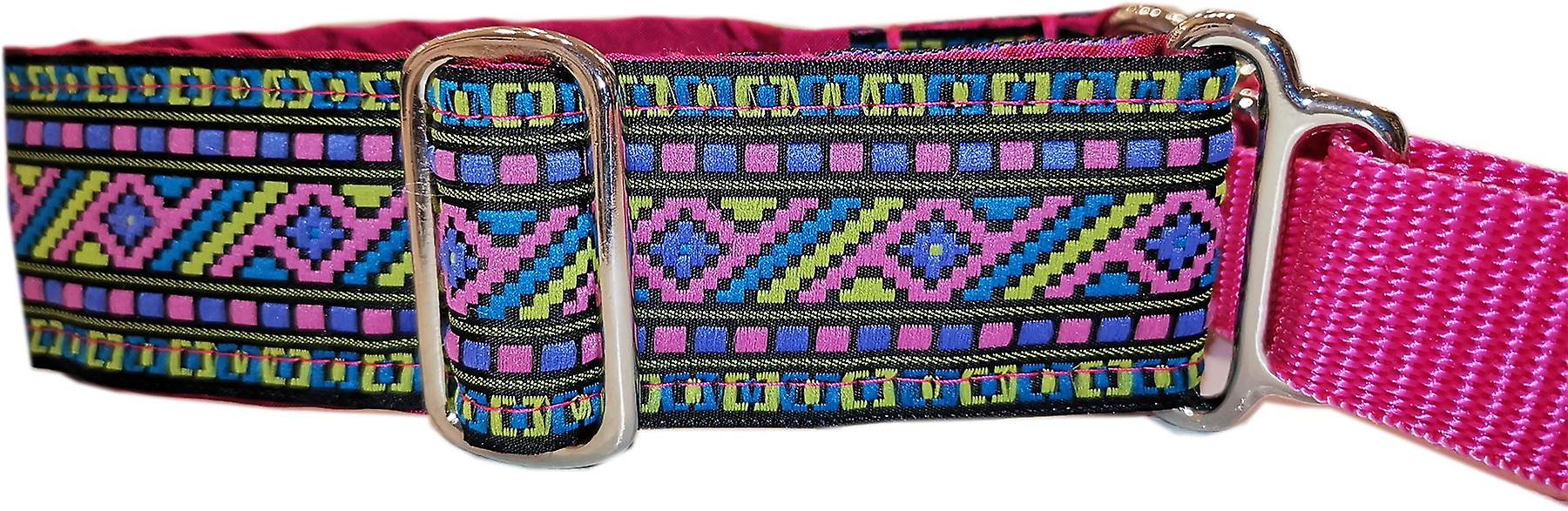 Dogcrafts Martingale Aztech Pink Multi Nickel Plated Drop