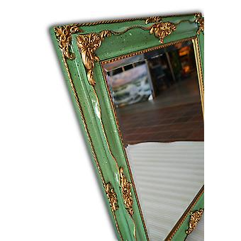 Mirror in green, outer dimensions 66x76 cm