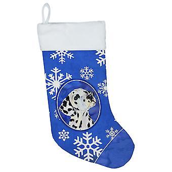 Carolines Treasures  SS4630-CS Dalmatian Winter Snowflakes Christmas Stocking SS
