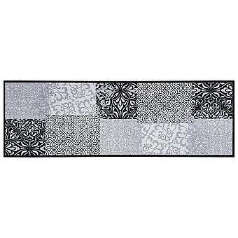 Mattboss köks löpare lapptäcke grå, tvättbar och halkfri, 50x150 cm