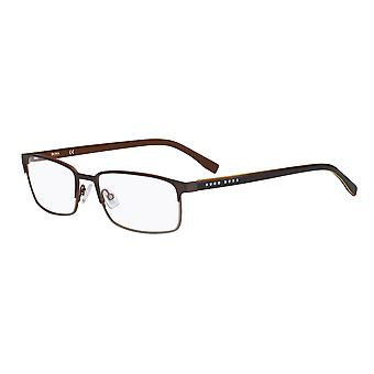 Hugo Boss 0766 QIU Matt Brown Glasses