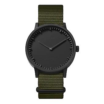 Leff Amsterdam LT75232 Green Nato T40 Black Tube Wristwatch